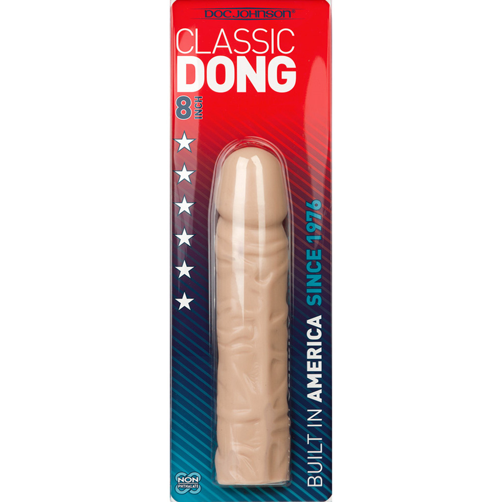 "Doc Johnson Classic Dong Sex Toy 8"" Natural - View #1"
