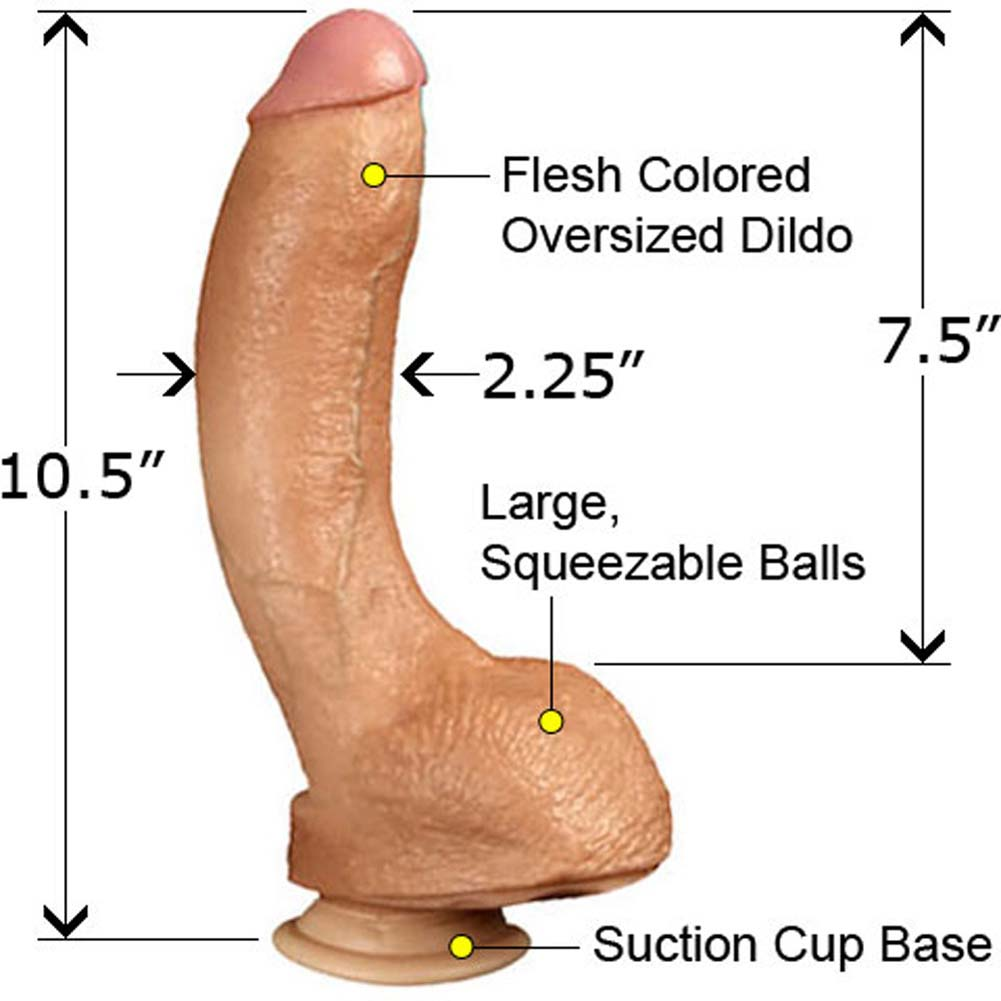 "Jeff Stryker Realistic Cock With Balls 10.5"" Natural. - View #1"