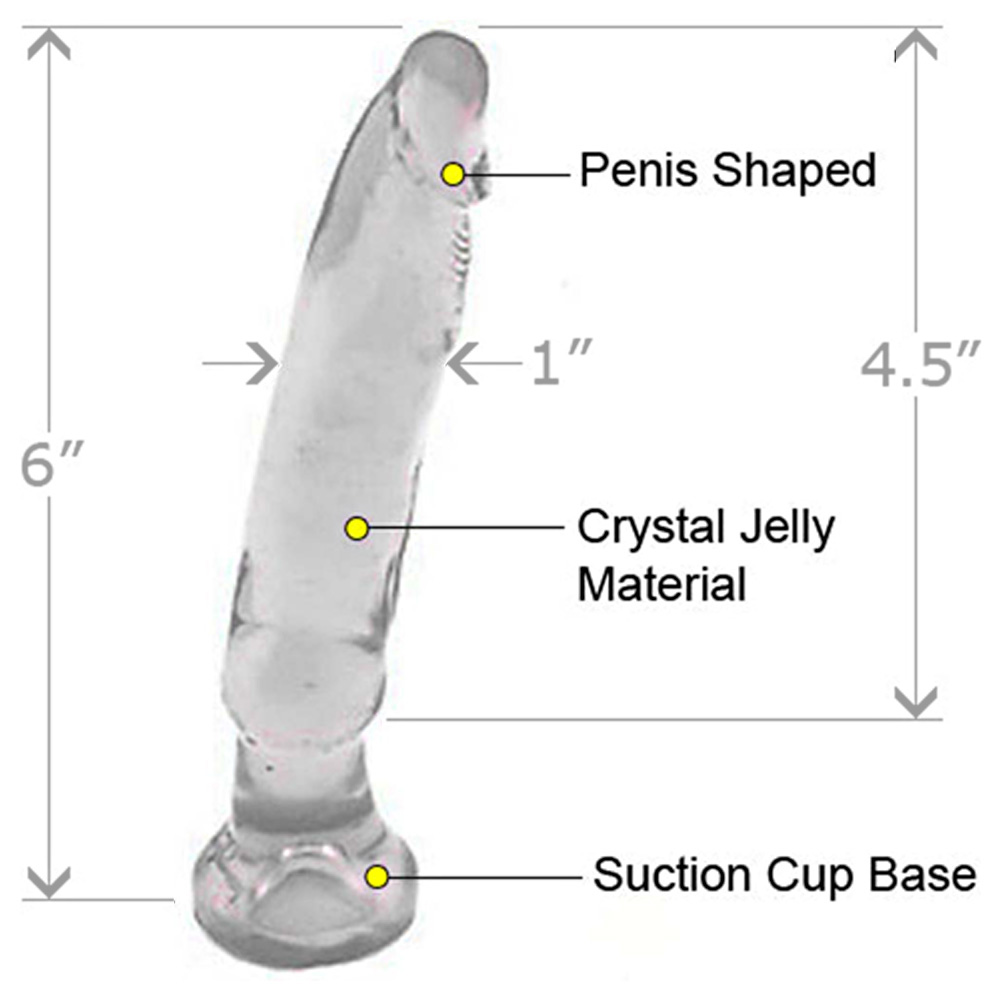 "Doc Johnson Crystal Jellies Anal Starter 6"" Clear - View #1"