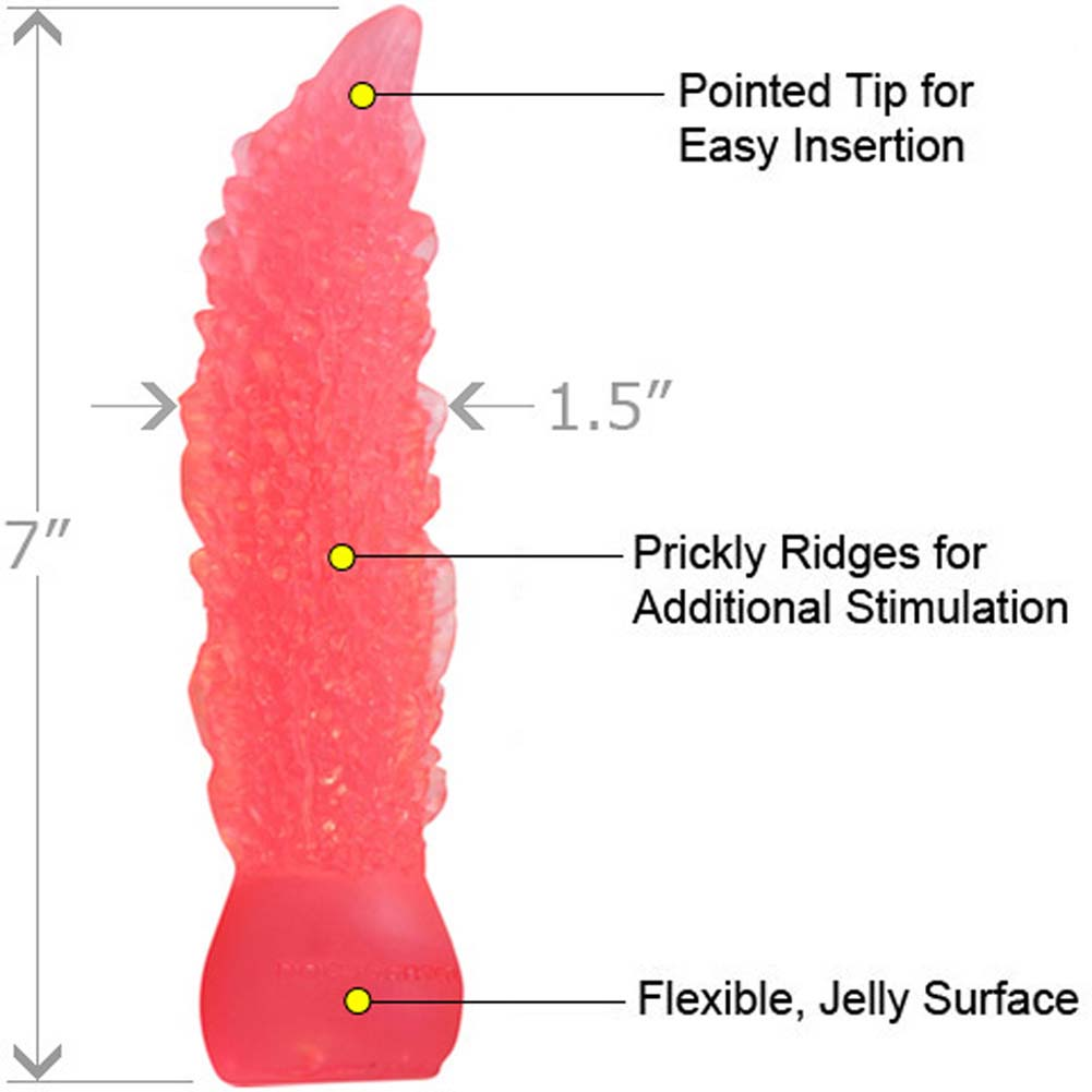 "Doc Johnson Organix Small Jelly Dildo 7"" Pink - View #1"