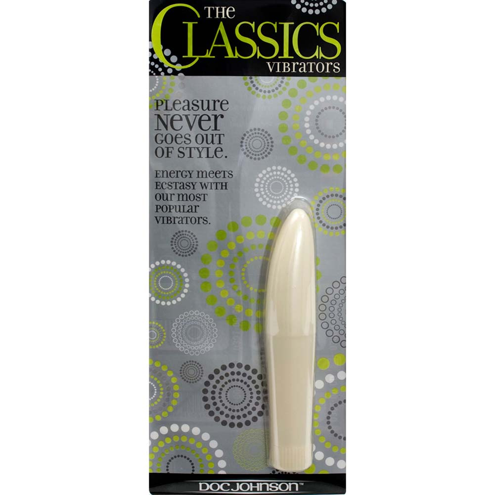 "Mini Slim Mystique Vibrator 5"" White - View #2"