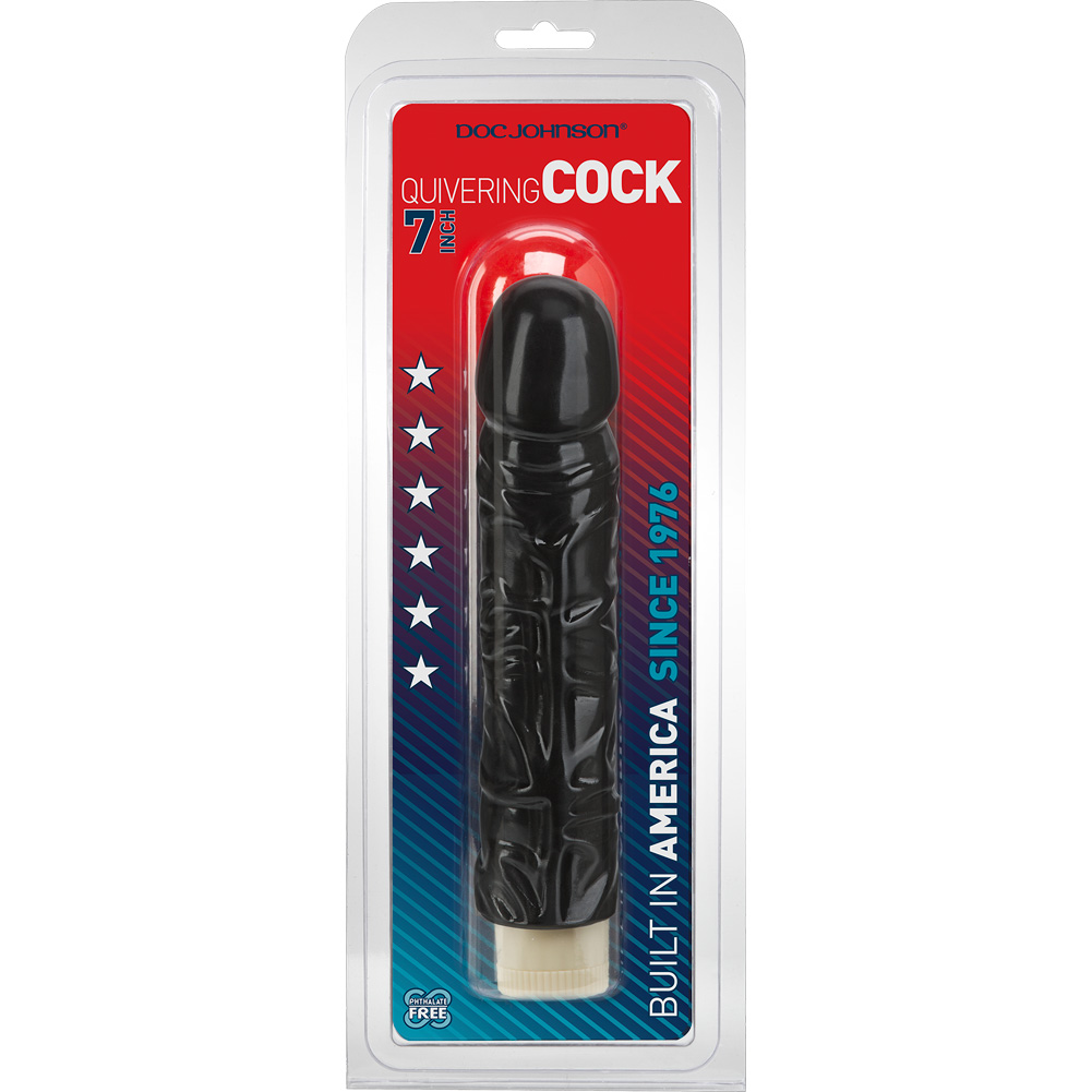 "Doc Johnson Quivering Cock Intimate Vibrator with Sleeve 8"" Black - View #3"