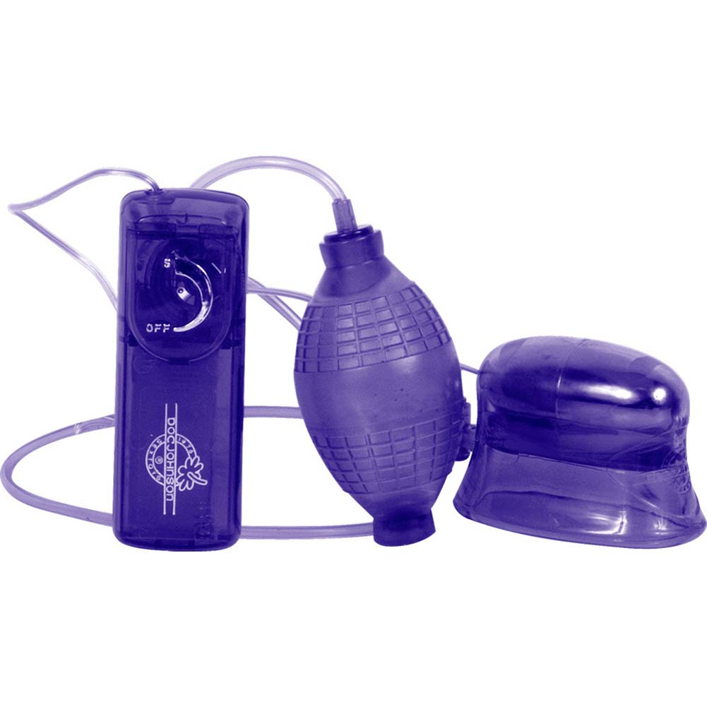 Pucker-Up Vibrating Clitoral and Vaginal Pump Purple - View #2
