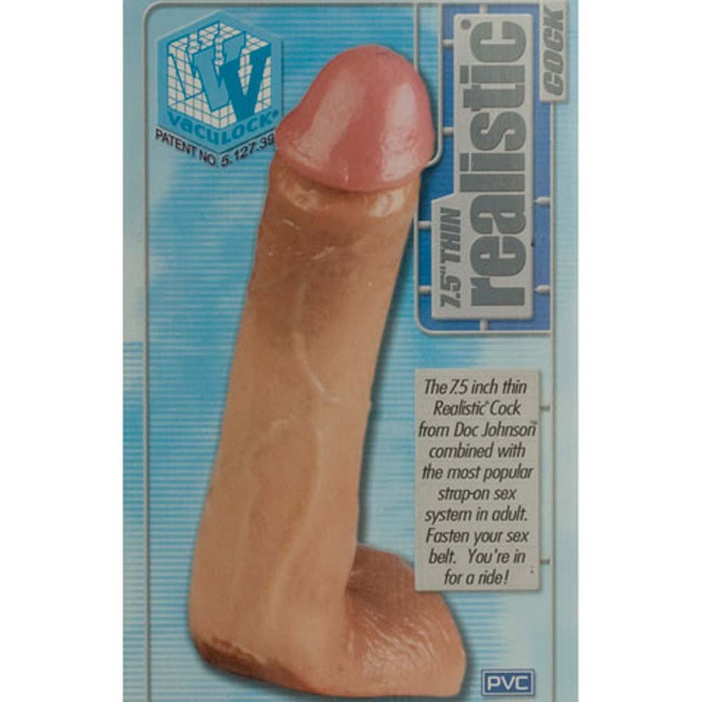 "Vac-U-Lock Thin Realistic Dong 7.5"" Natural Flesh - View #1"