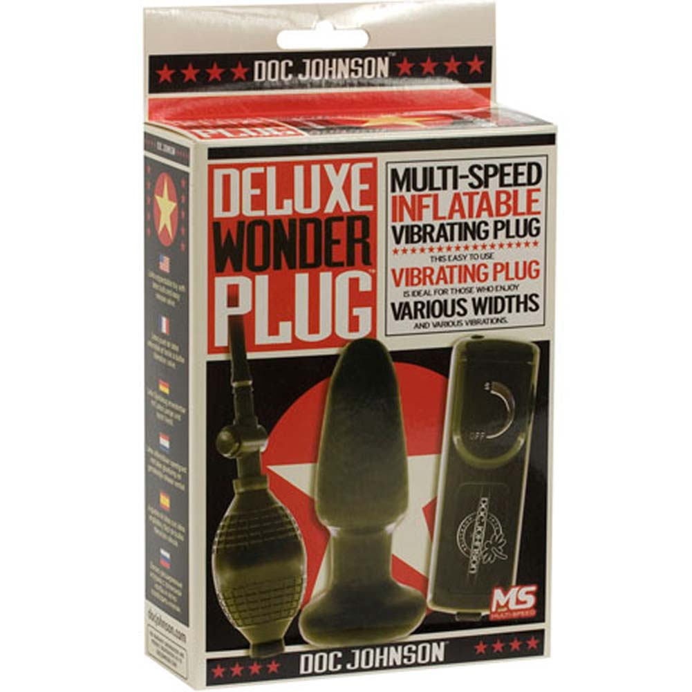 "Deluxe Wonder Inflatable Vibrating Plug 5"" Black - View #4"