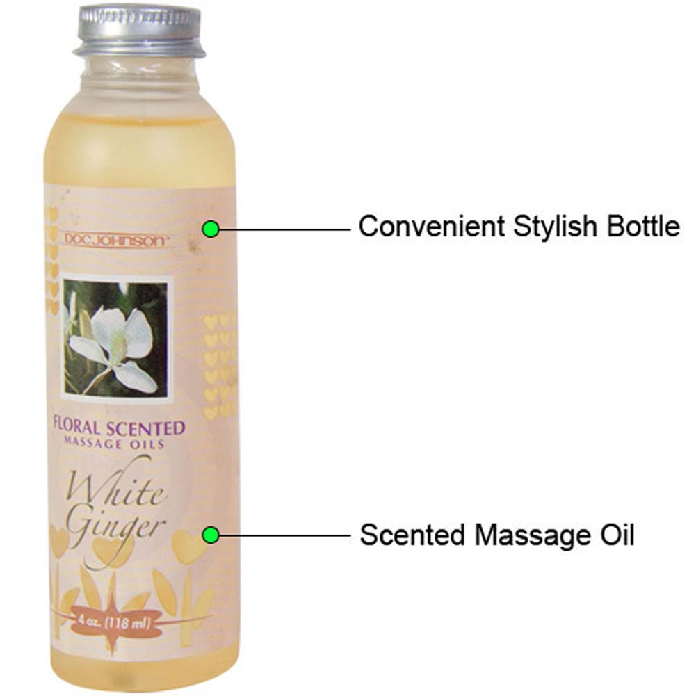 Floral Scented Massage Oil 4 Fl.Oz White Ginger - View #1