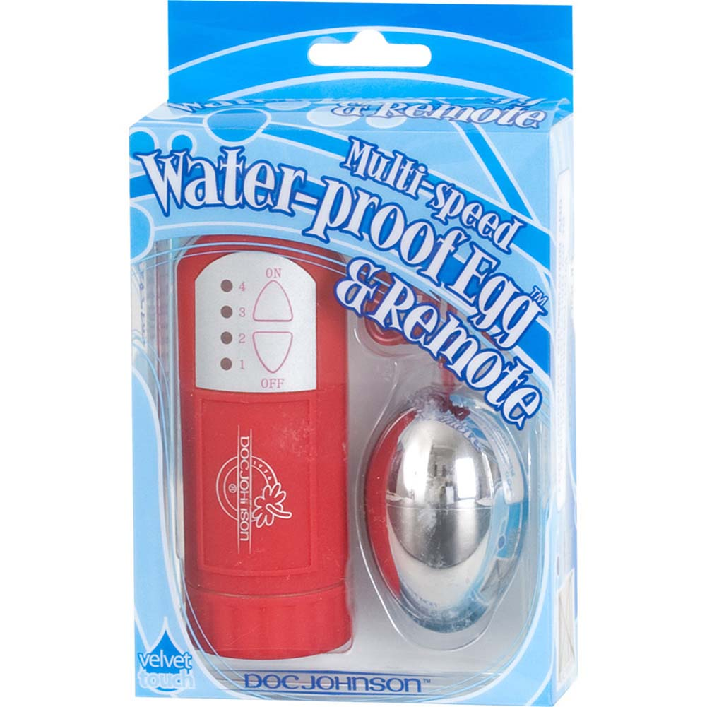 Waterproof Silver Egg with Remote Control Red - View #2