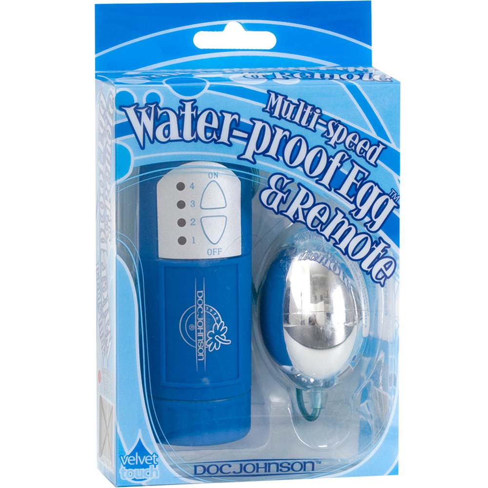 Waterproof Silver Egg with Remote Control Blue - View #3