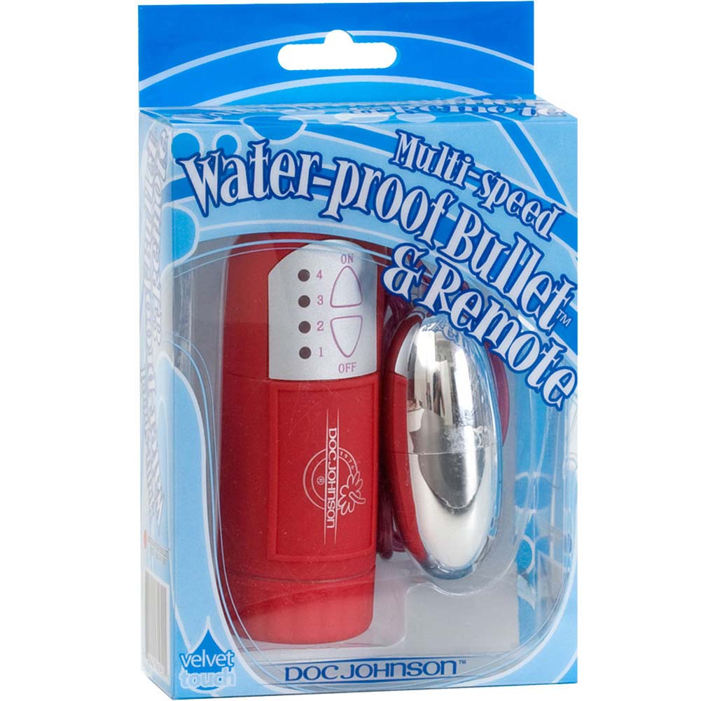 Waterproof Silver Bullet Vibe with Soft Touch Remote Red - View #1
