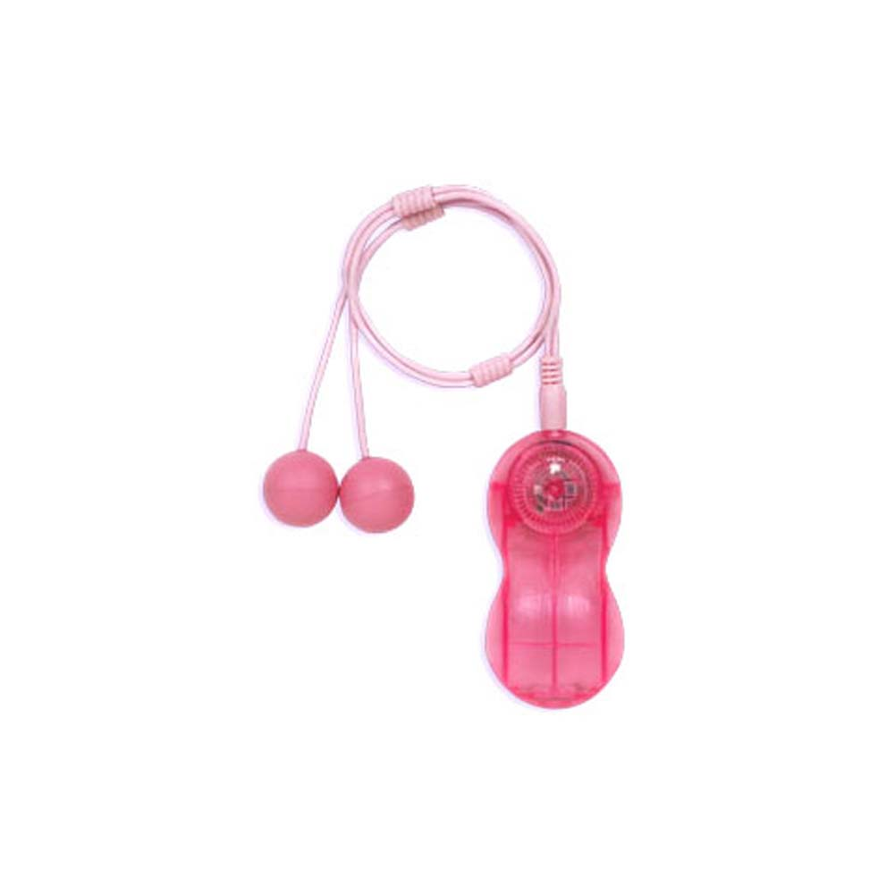 Moniques Double Bubble Vibrating Balls Pink 1 In. - View #2