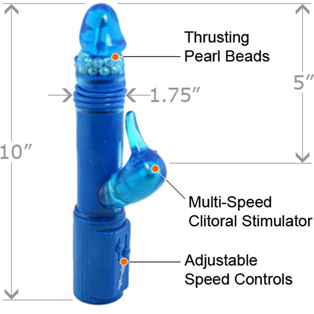 "Daffy the Deep Stroker Jelly Vibe 10"" Blue - View #1"