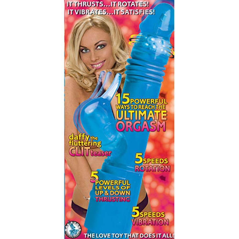 "Daffy the Deep Stroker Jelly Vibe 10"" Blue - View #3"
