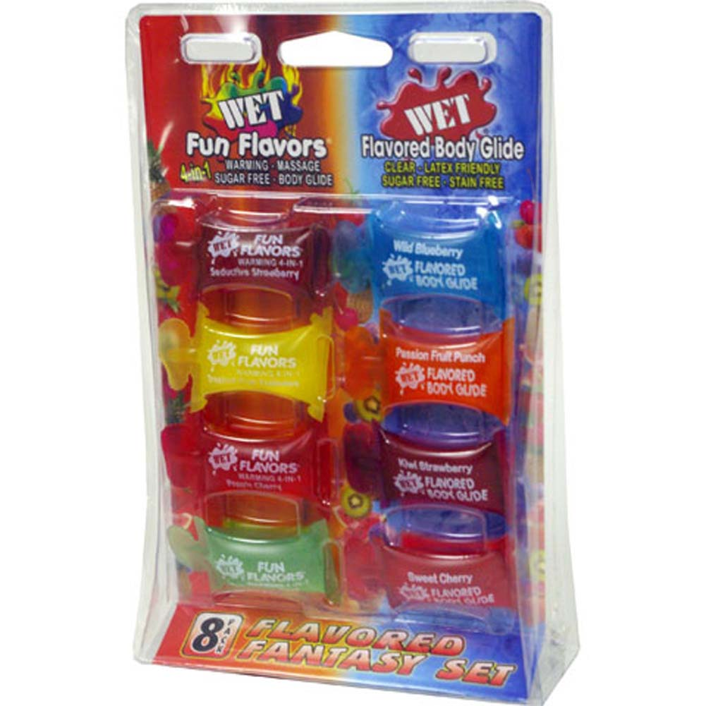 Wet Flavored Fantasy Pack 8 Count - View #1