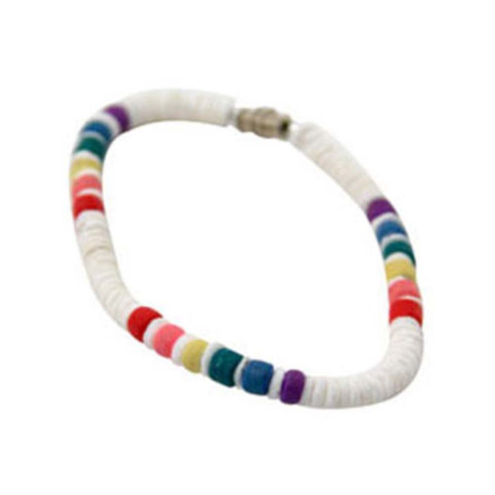 Gaysentials Rainbow Shell Bracelet - View #1