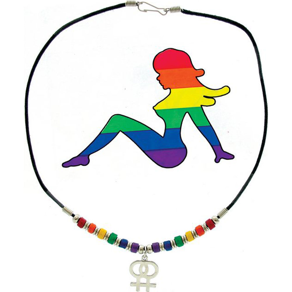 Gaysentials Double Female Necklace and Sticker - View #2