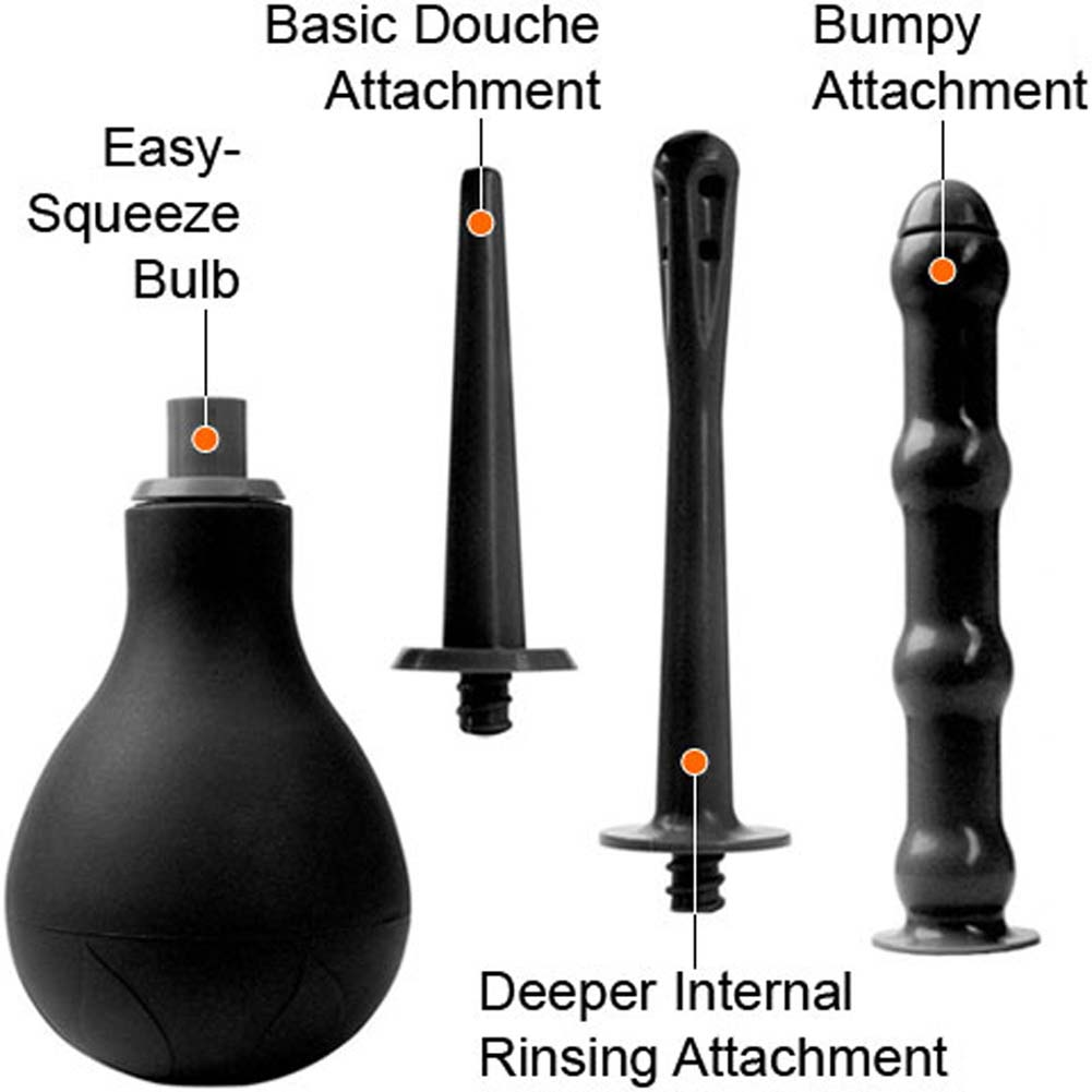 Rascal Toys Deep Cleansing Kit Anal Douche with 3 Attachment - View #1