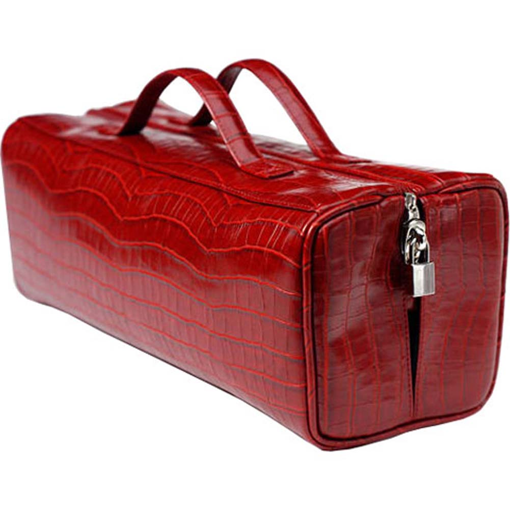 Devine Satchel Red Croco - View #1