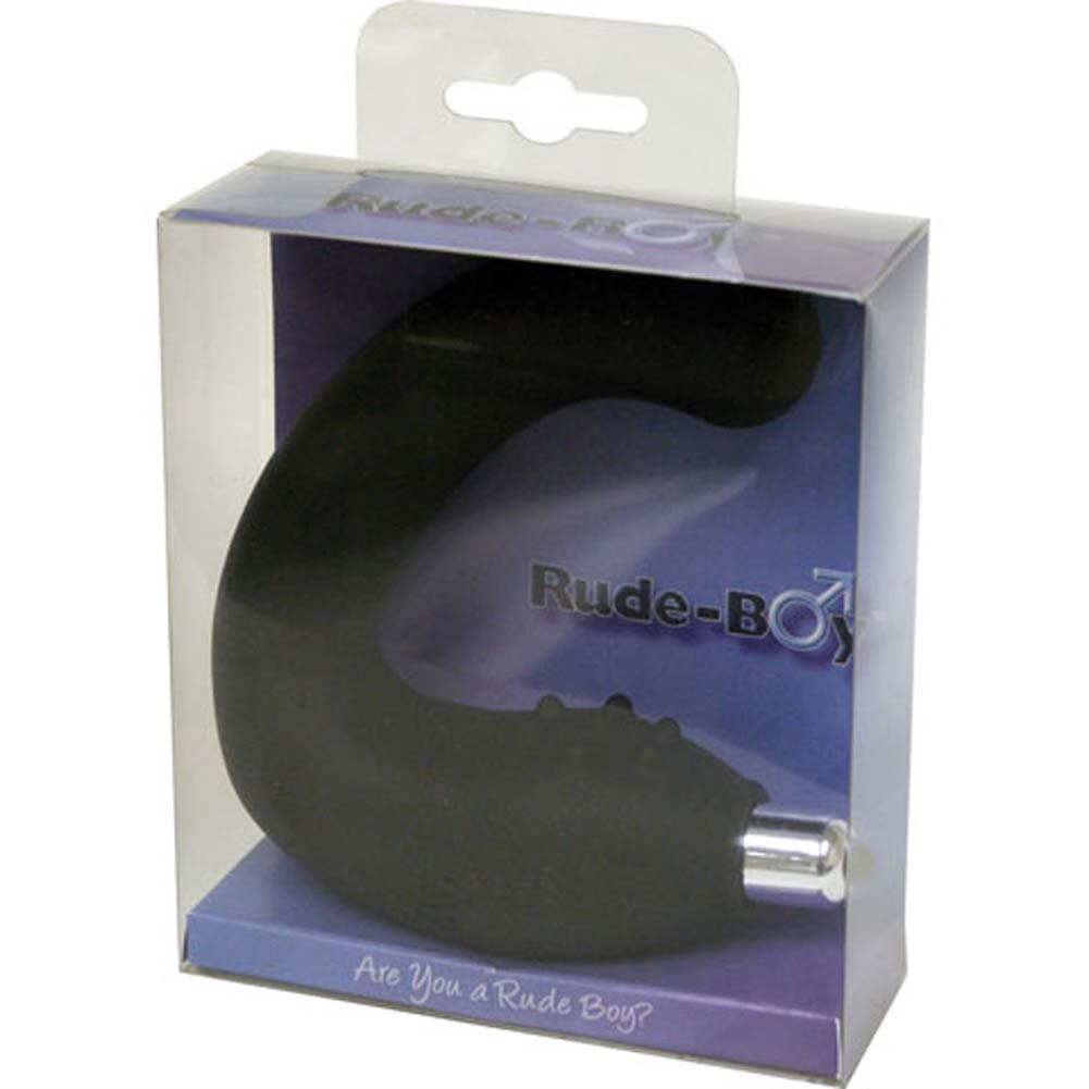 Rocks-Off Rude Boy Silicone Vibrating Butt Plug Black - View #4