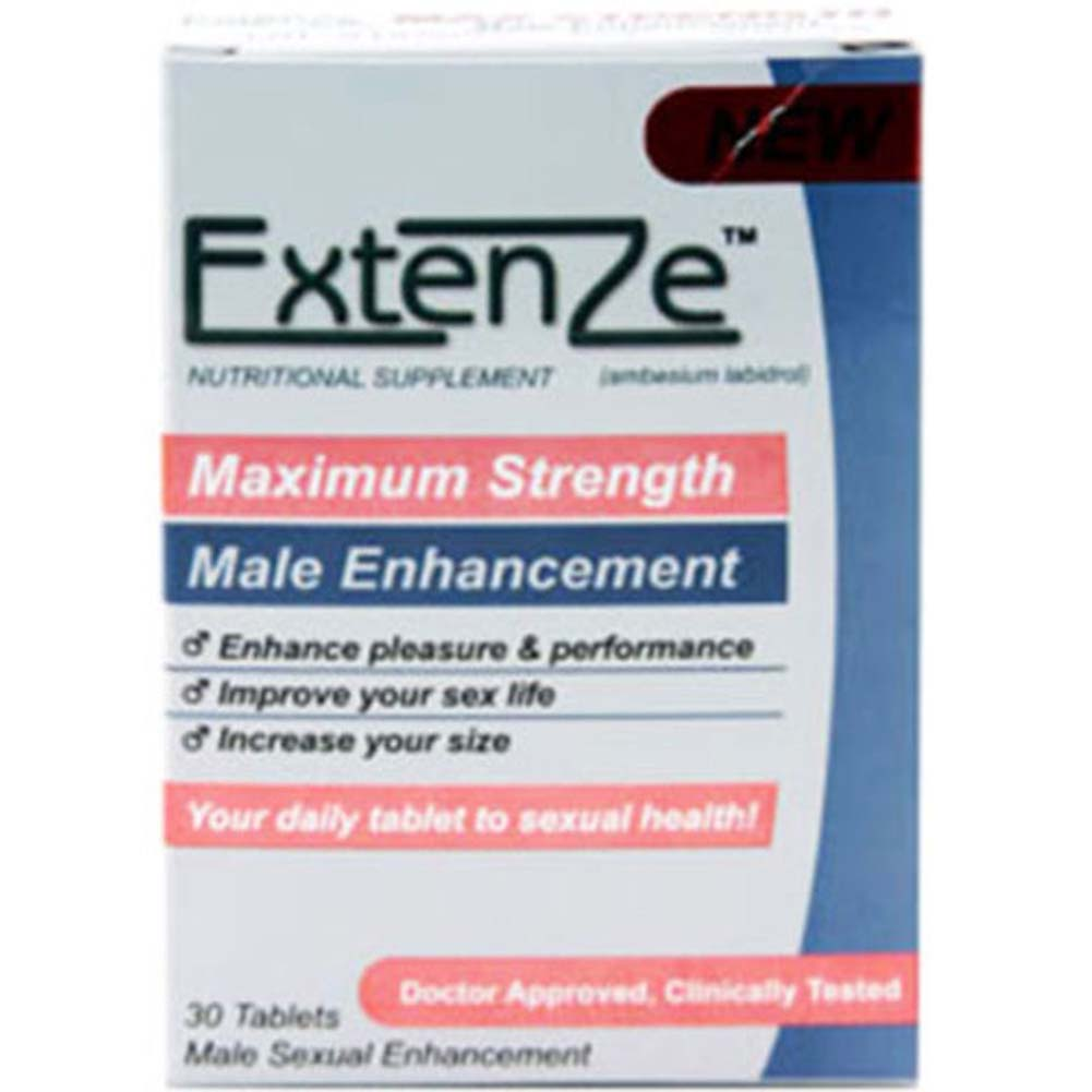 ExtenZe Male Sexual Enhancement 30 Tablets Box - View #1