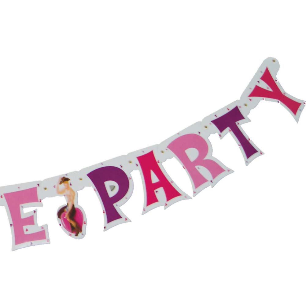 Bachelorette Party Letter Banner 9 Feet Long - View #3