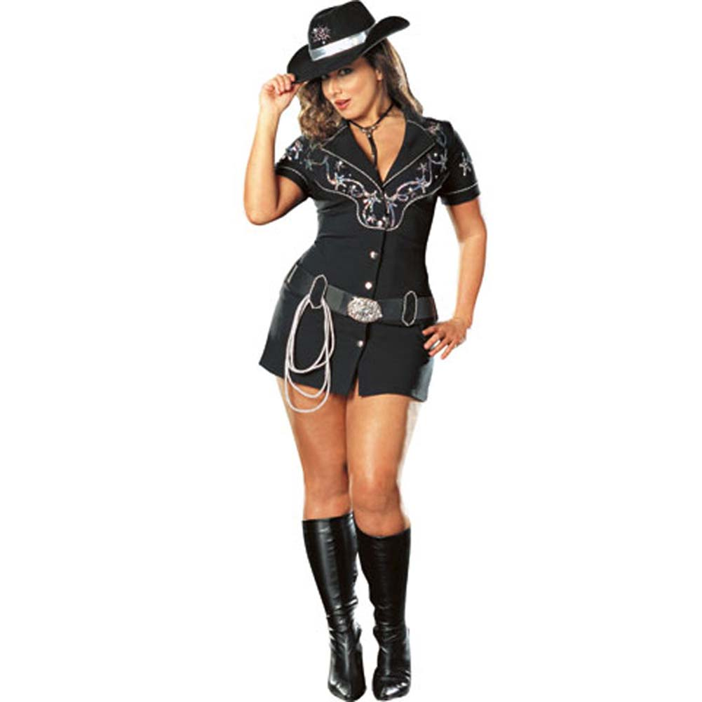Rhinestone Cowgirl Costume Plus Size 1X/2X - View #2
