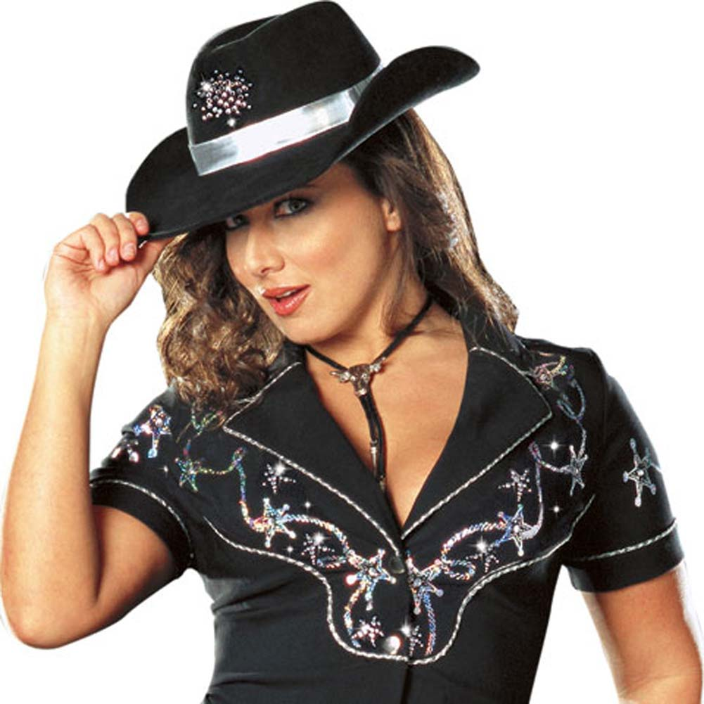Rhinestone Cowgirl Costume Plus Size 3X/4X - View #3