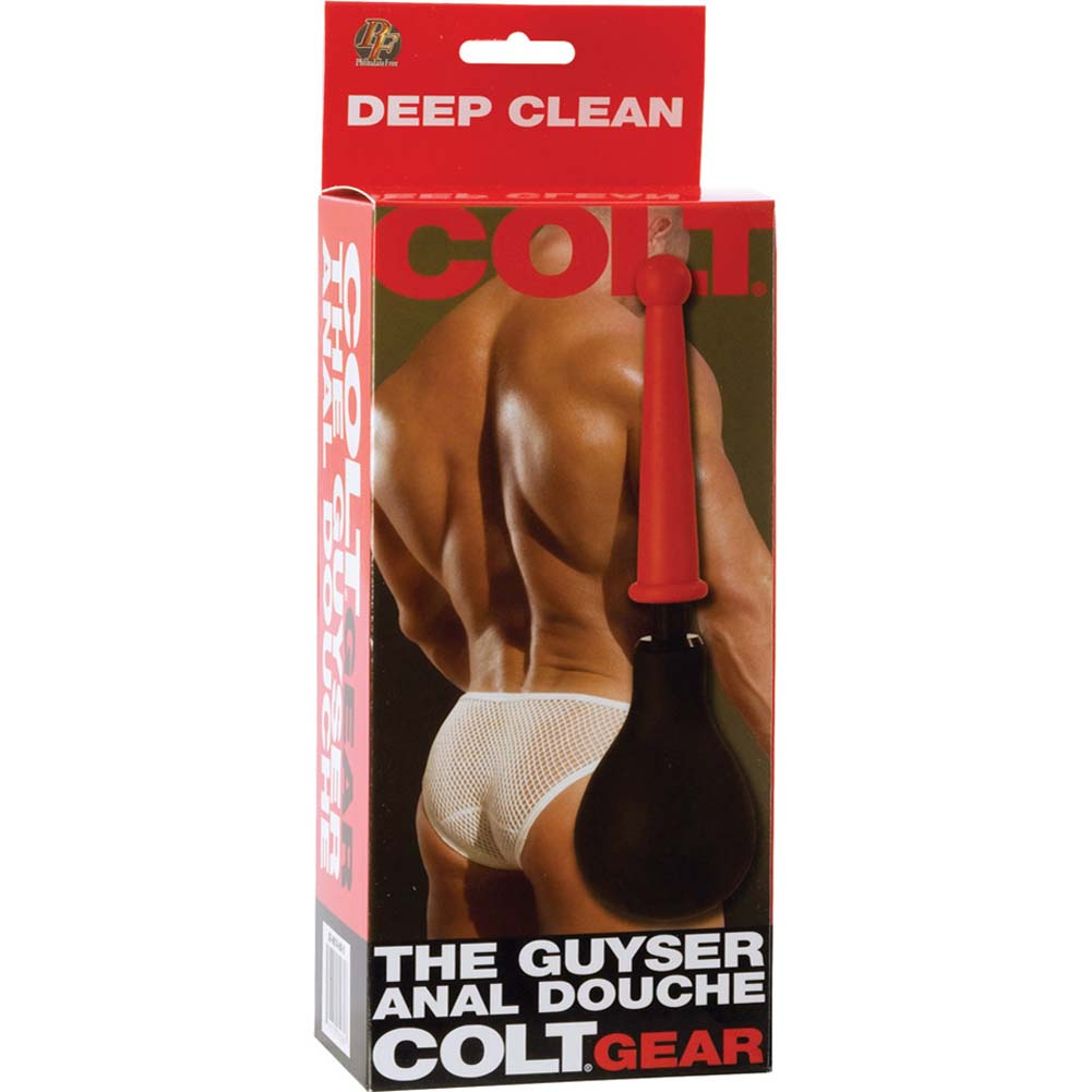 "California Exotics COLT Guyser Anal Douche 10"" Black with Red Tip - View #3"