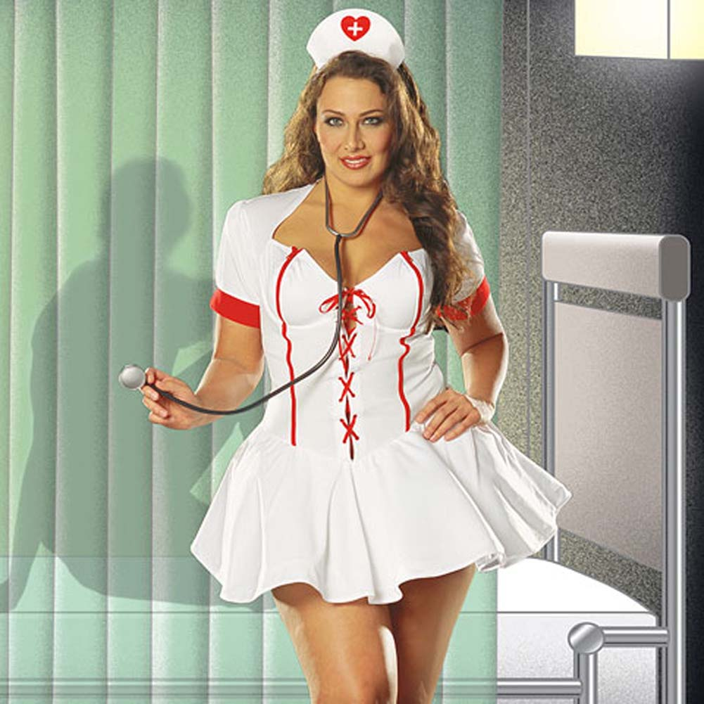 Bedside Nurse Costume Plus Size 1X/2X - View #1