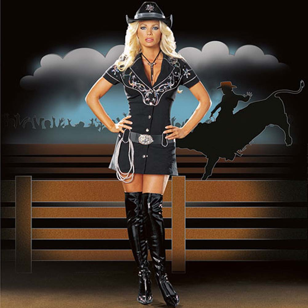Rhinestone Cowgirl Costume Large Size - View #1