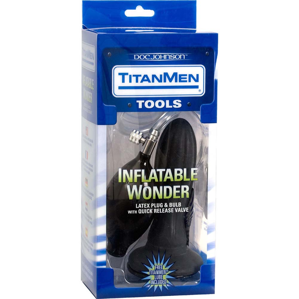 "TitanMen Inflatable Wonder Butt Plug 5.5"" Black - View #4"