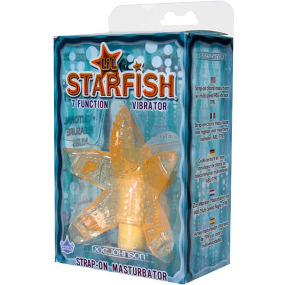 Lil Starfish Waterproof Strap-On Vibe Peach - View #4