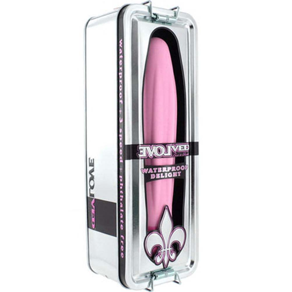 "Fleur De Lis Delight Waterproof Vibrator 7"" Pink - View #4"