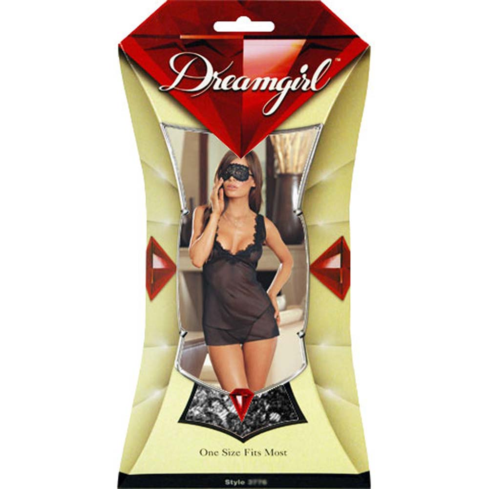 Midnight Masquerade Babydoll Set Black RbDV - View #4