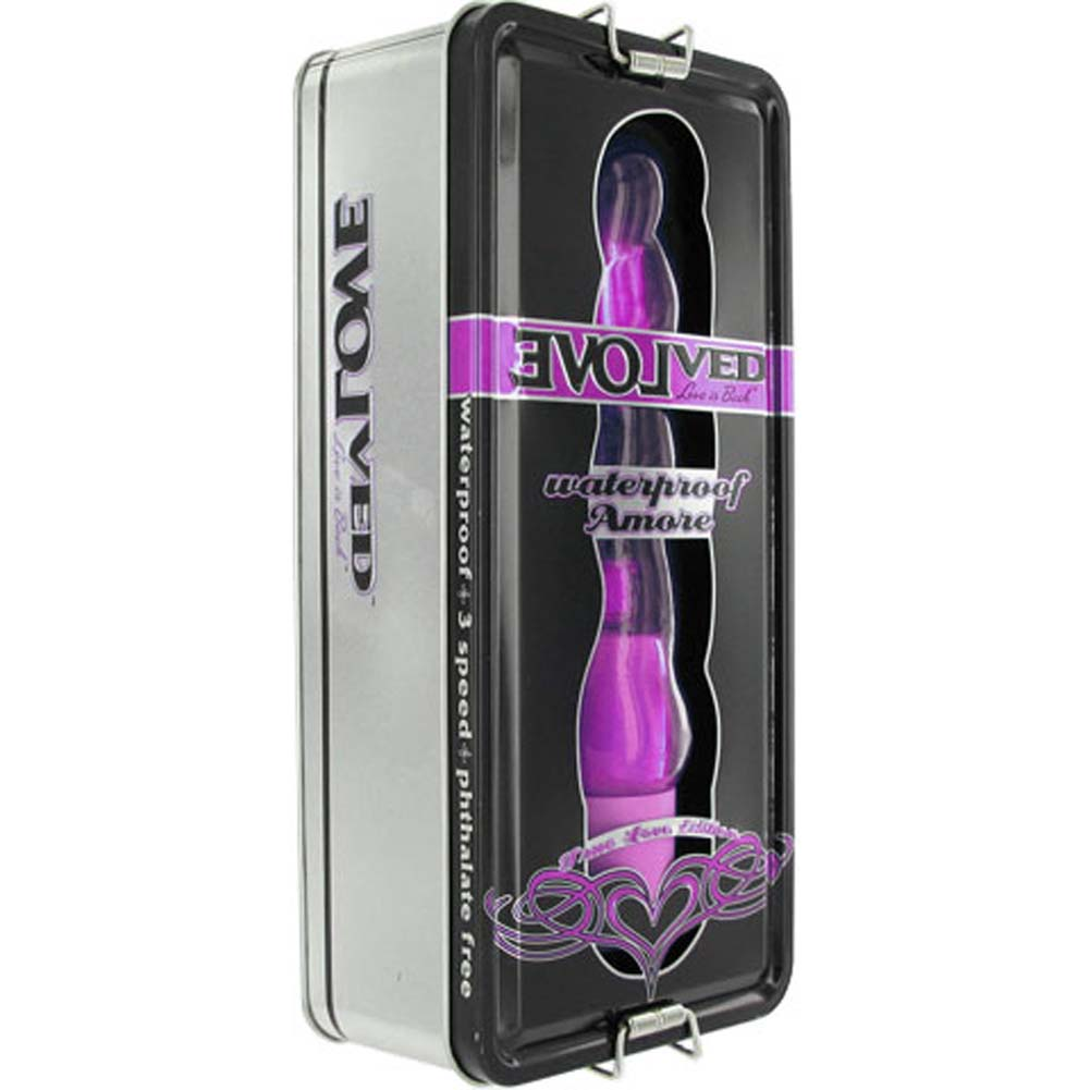"Evolved Novelties True Love Amore Waterproof Vibe 8"" Purple - View #1"