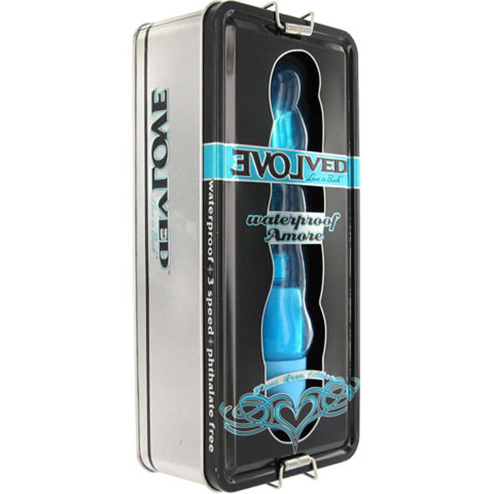 True Love Amore Waterproof Jelly Vibe Blue 8 In. - View #4