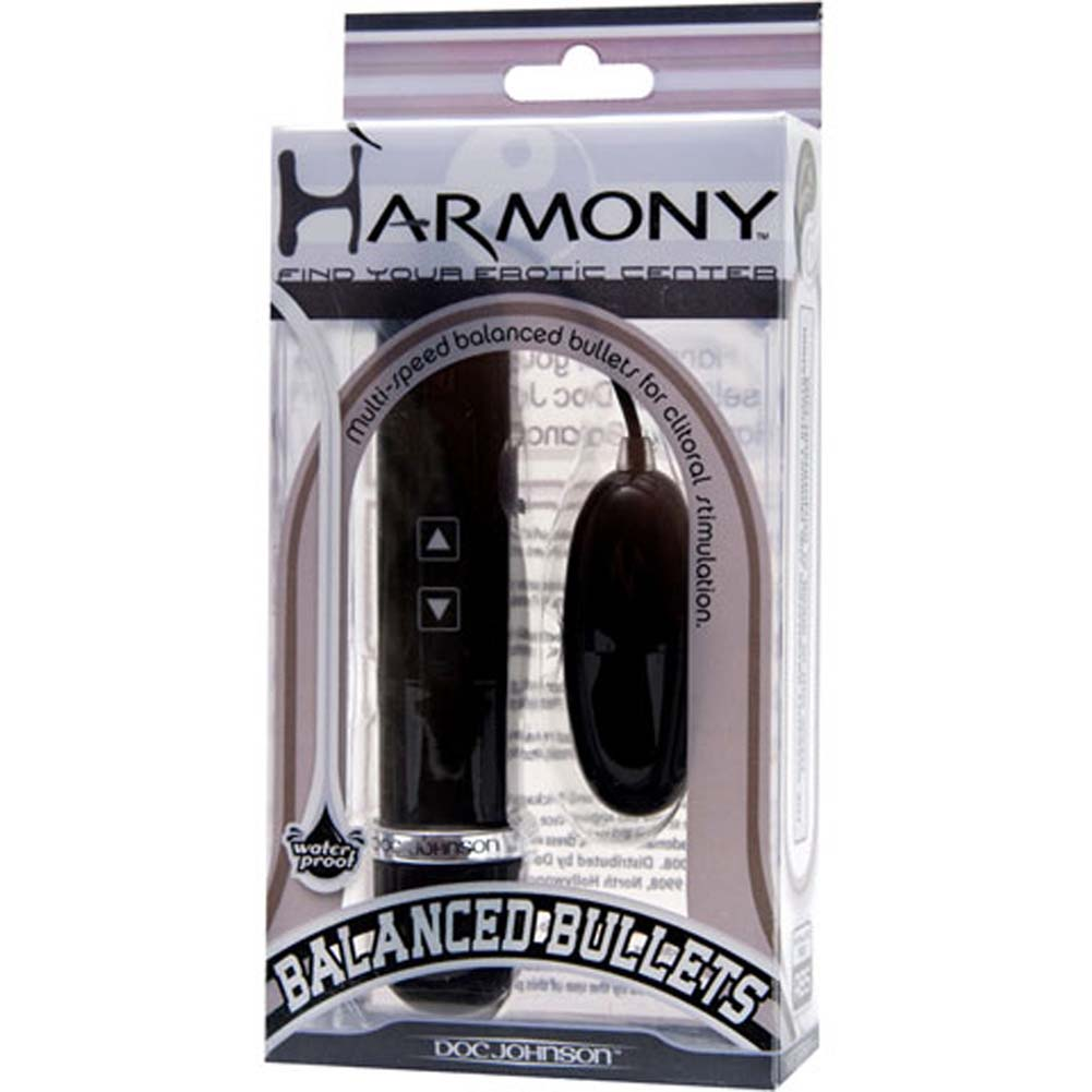 Harmony Balanced Waterproof Vibrating Bullets Black - View #1