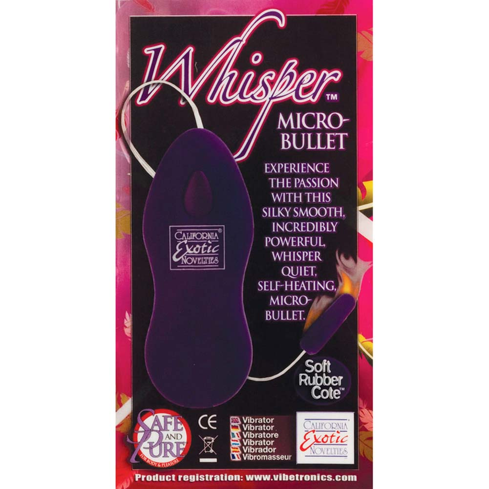 "Whisper Quiet Micro Heated Bullet 1.25"" Purple RbDV - View #3"