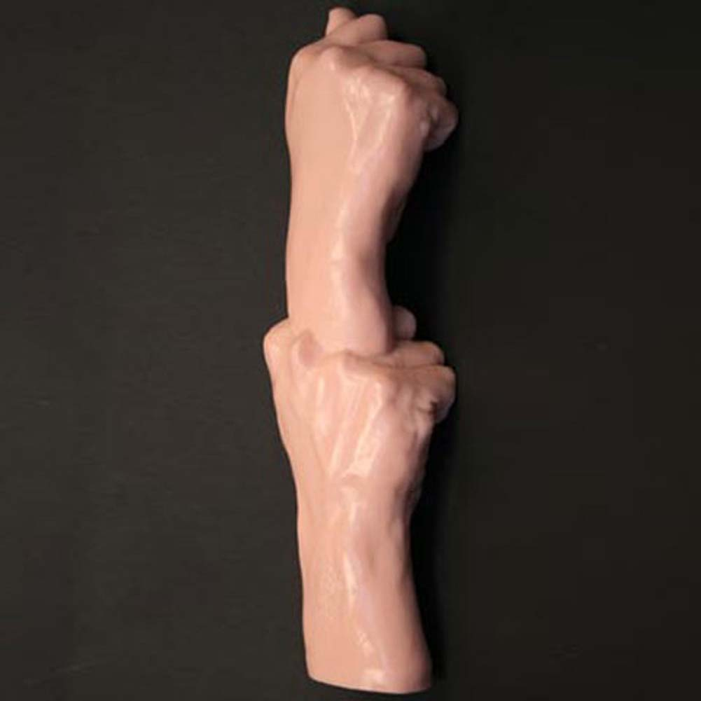 Duo Fist Oversized Dildo 13 In. - View #2