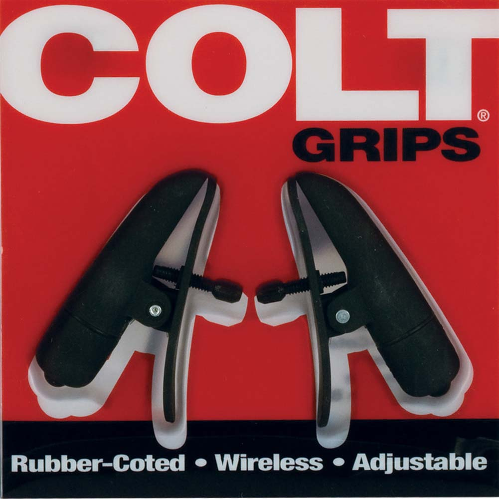 COLT by CalExotics Grips Wireless Adjustable Vibrating Nipple Clamps Black - View #3