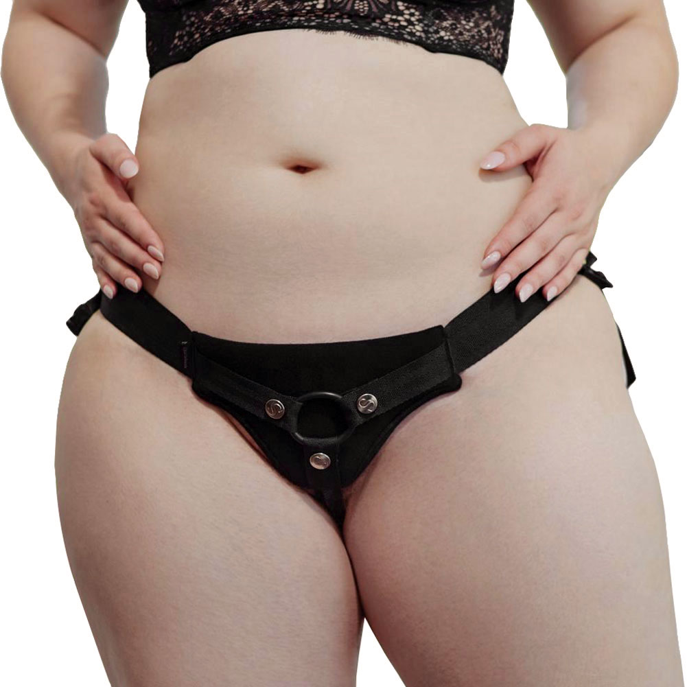 Sportsheets Divine Diva Plus Sized Strap-On Black - View #2