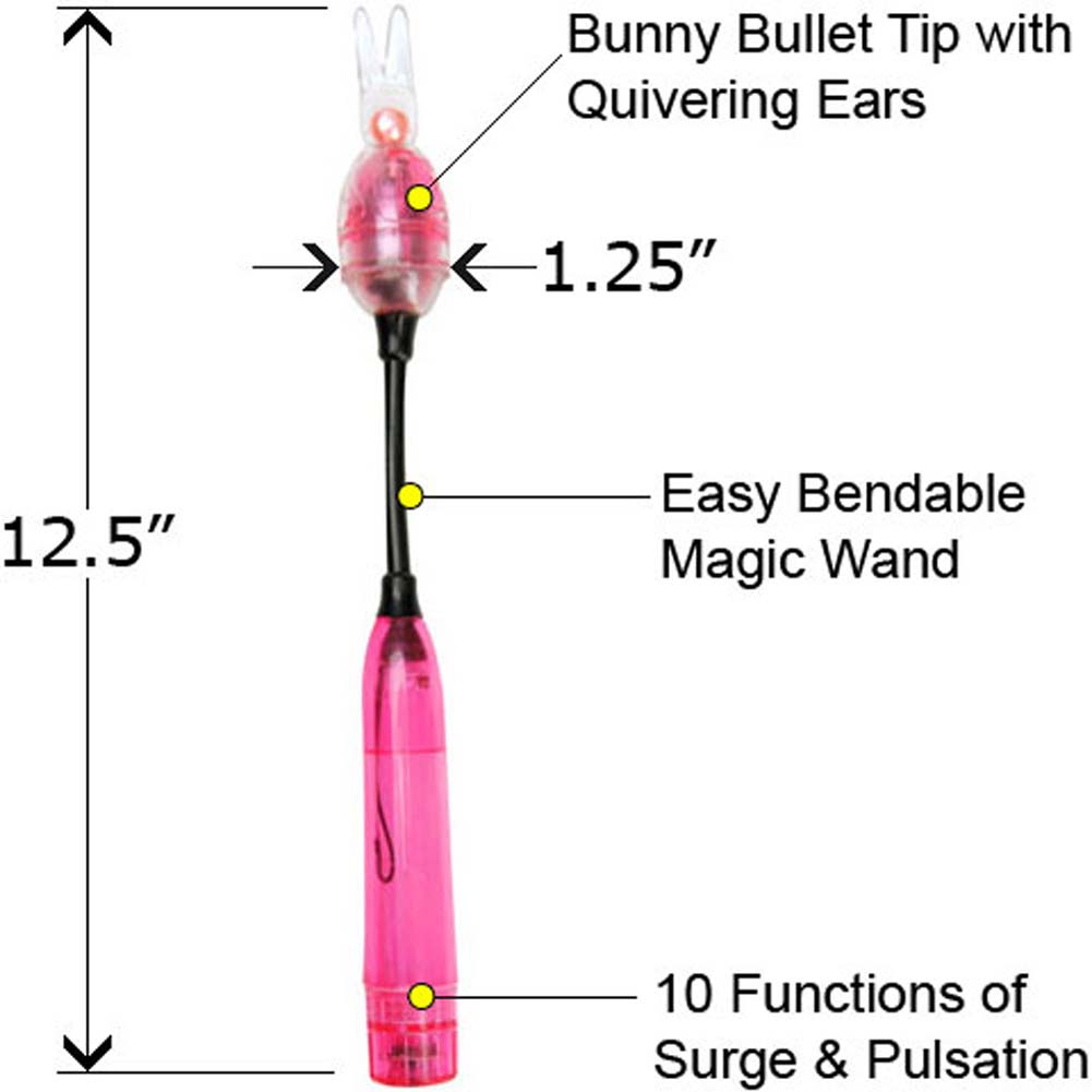 Climax Waterproof Vibrating Bunny Wand with Bullet Pink - View #1