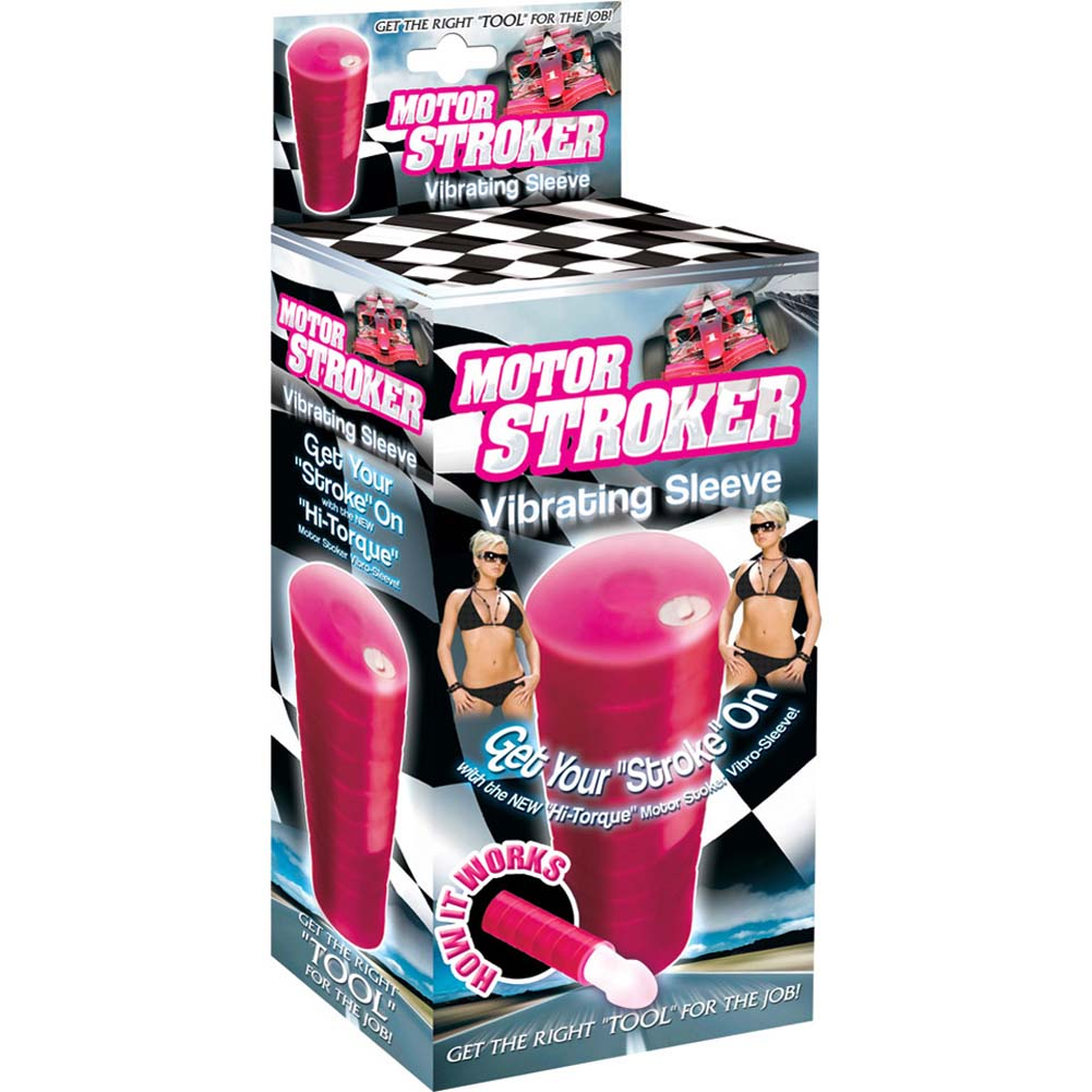 Motor Stroker Silicone Vibrating Sleeve Pink - View #4