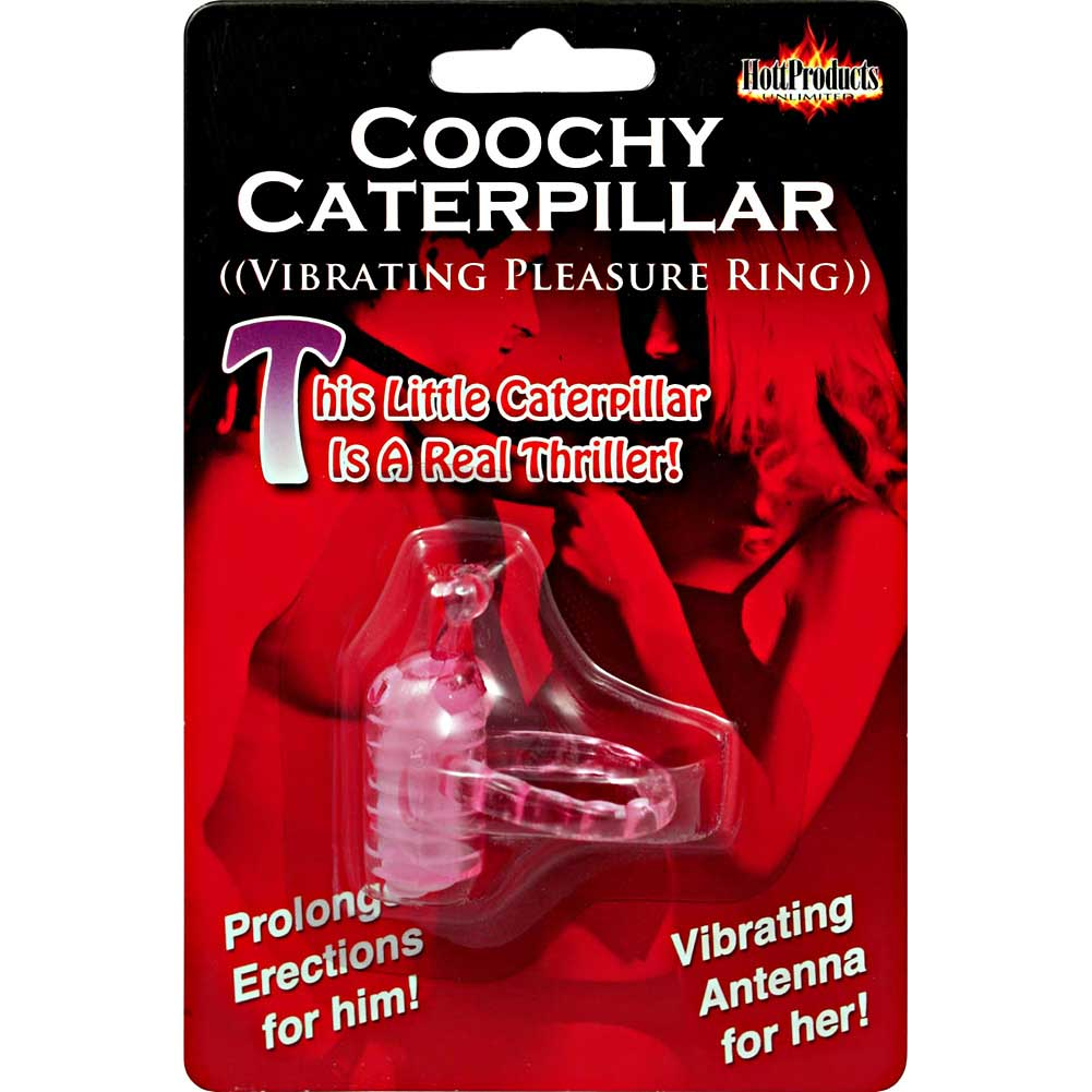 Coochy Caterpillar Vibro Ring Magenta - View #3