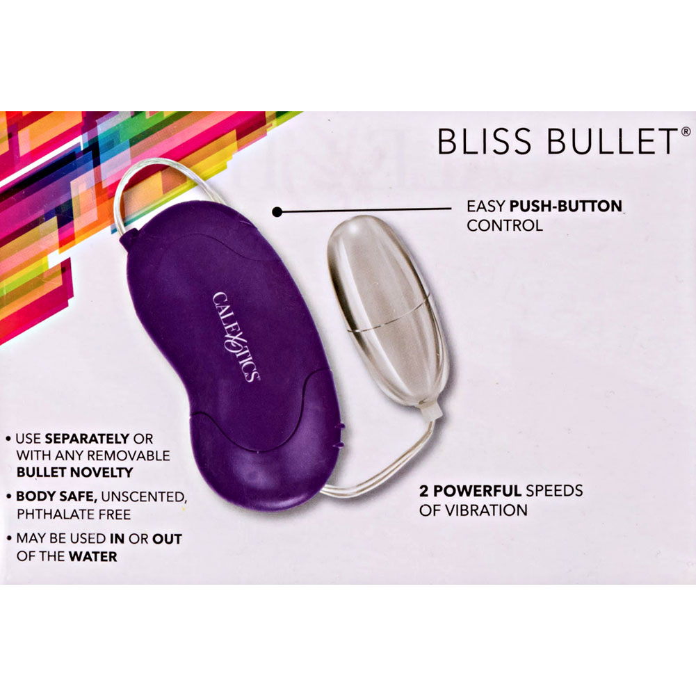 "Bliss Universal Vibrating Silver Bullet 2.25"" Purple Controller - View #3"