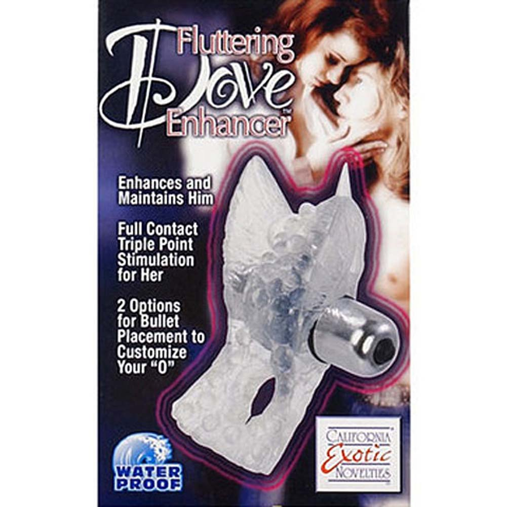 Fluttering Dove Enhancer Waterproof Vibrating Ring Clear - View #2