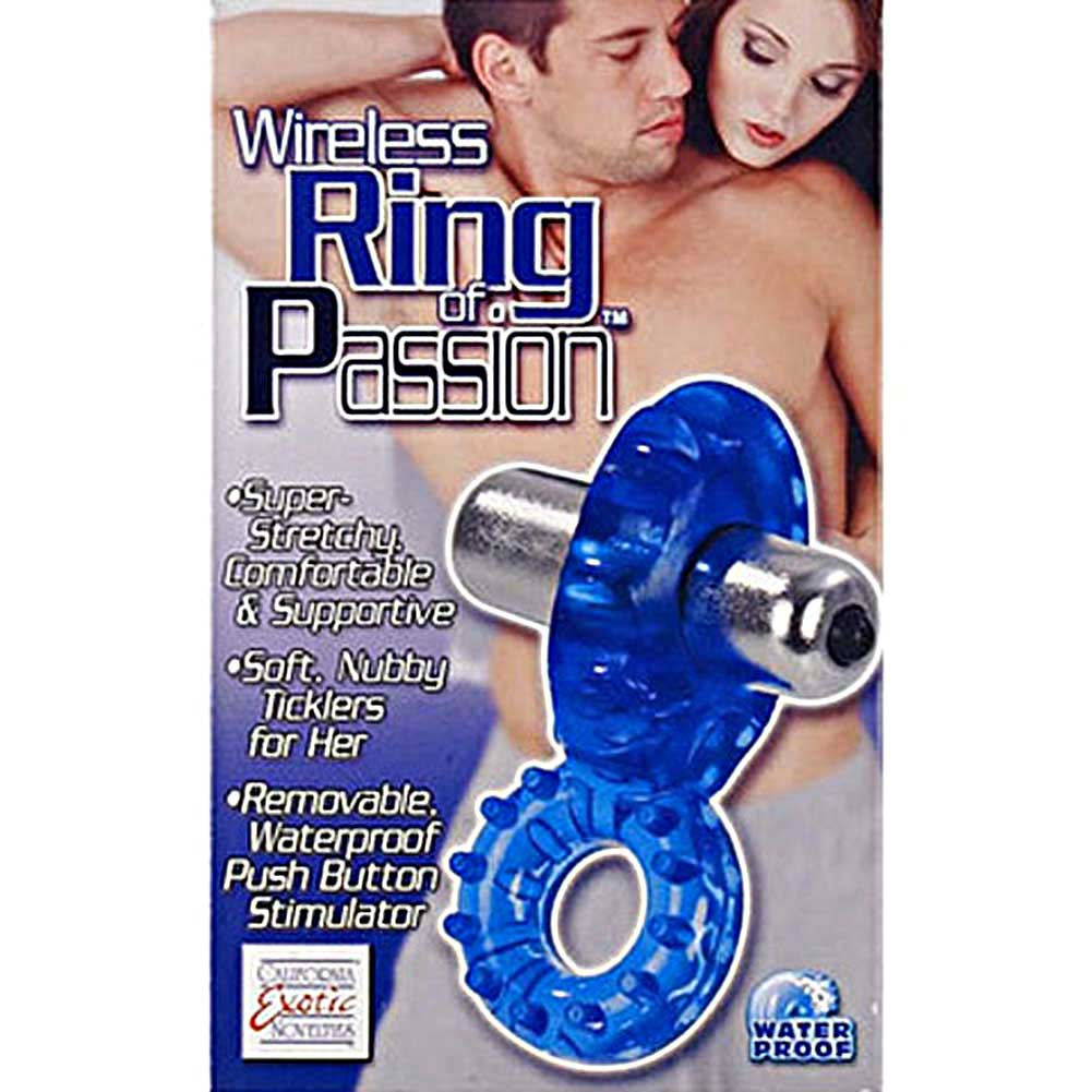 California Exotics Cordless Waterproof Ring of Passion Blue - View #1