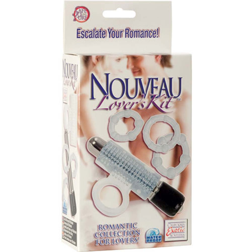 Nouveau Lovers Waterproof Vibrating Kit Clear - View #4