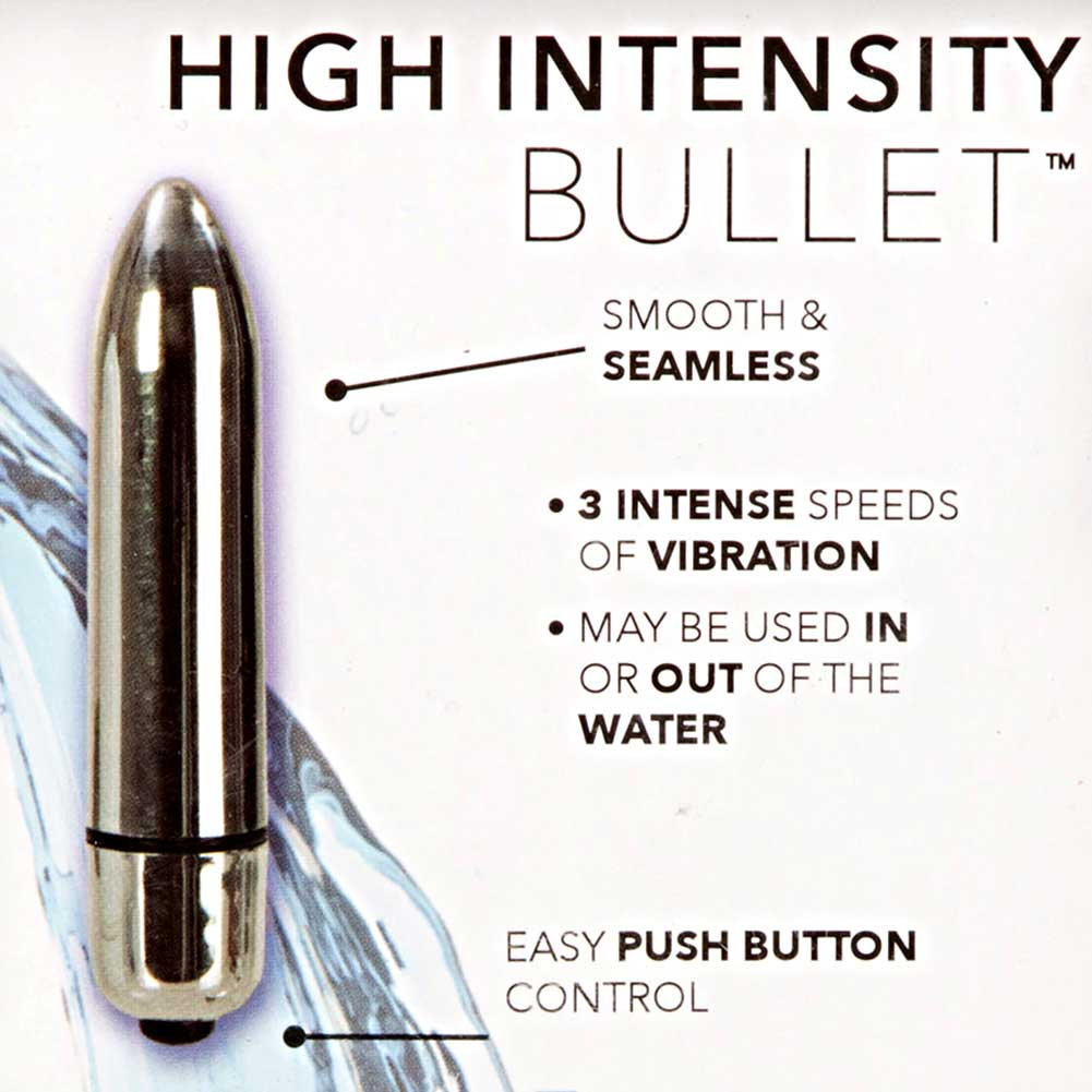 "California Exotics High Intensity Waterproof Bullet Vibrator 3.25"" Silver - View #1"
