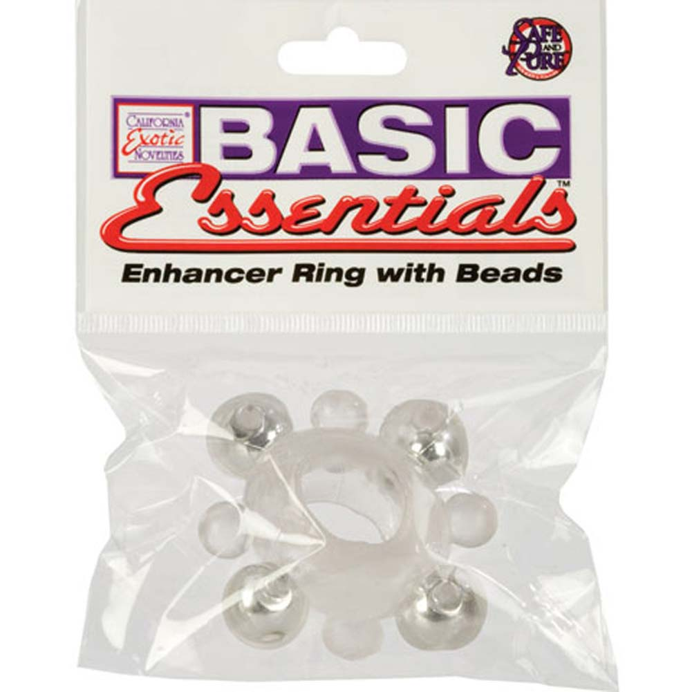 Basic Essentials Enhancer Ring with Beads Clear - View #4