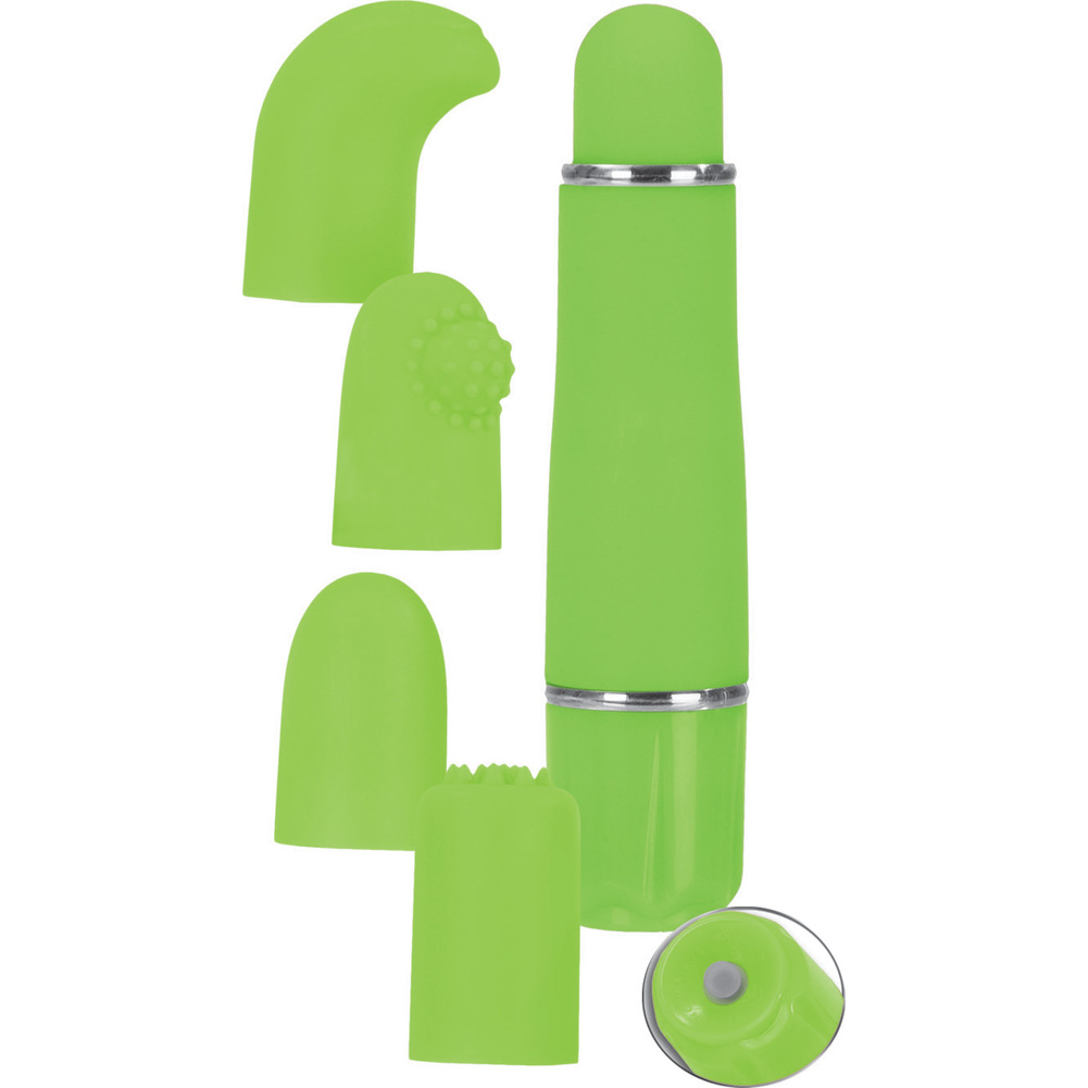 California Exotics Love Vibe Number 9 Kit with 3 Interchangeable Tips Green - View #2